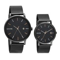 Sonata 713187029NM01 Black Dial Analog Watch For Couple