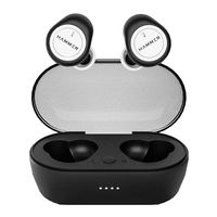 HAMMER Airflow Bluetooth Earphones (Tws) With Magnetic Charging Case In-Built Mic (White)