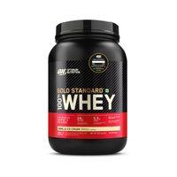 Optimum Nutrition (ON) Gold Standard 100% Whey Protein Powder - 2 lbs (Vanilla Ice Cream)