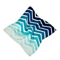 HILO Design Ombre Chevron Pattern Silk Pocket Square