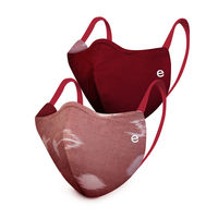 Enamor 3-layer Reversible Safety Cotton Mask With 95% Protection Mask (Pack Of 2)