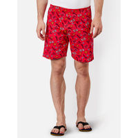 Free Authority Superman Featured Boxer For Men - Red