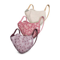 Enamor MA01 REVERSIBLE MASK 4-Layer Adult Safety Mask(Cotton) >95% Protection-Pack of 3-MultiColor