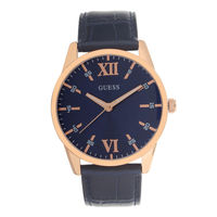 Guess W1307G2 Round Blue Dial Analog Watch