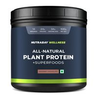 Nutrabay Wellness All-Natural Plant Protein Powder + Superfoods - Gourmet Chocolate