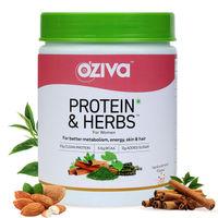 OZiva Protein & Herbs Women, with Multivitamins for Better Metabolism, Skin & Hair, Vanilla Almond