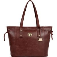 Pure Luxuries London Chestnut 'Calista' Leather Tote Bag