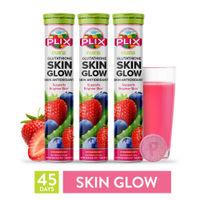 Plix Olena Glutathione Skin Glow Effervescent Tablets, Pack of 3