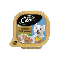 Cesar Adult Wet Dog Food, White Meat Fish & Vegetables Tray