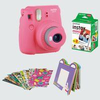 Fujifilm Instax Mini 9 Camera Bundle Pack Flamingo Pink
