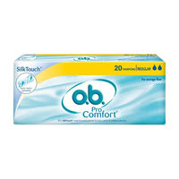 O.B. Pro Comfort Tampons Regular - For Average Flow (20 Pieces)