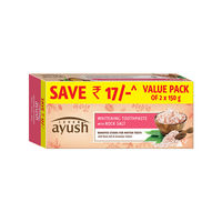 Lever Ayush Whitening Toothpaste with Rock Salt Pack of 2 Save Rs 17