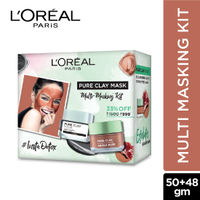 L'Oreal Paris Pure Charcoal Mask + Red Clay Mask (Set of 2)