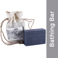 Nykaa Soap Story Activated Charcoal & Green Tea Handcrafted Soap