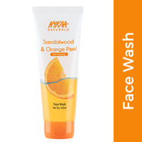 Nykaa Naturals Sandalwood & Orange Peel Face Wash for Tan Removal