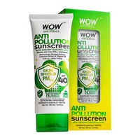 WOW Skin Science Anti Pollution Sunscreen SPF 40 Lotion
