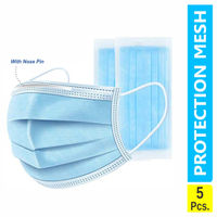 GUBB USA Protection 3-Ply Surgical Masks (Pack of 5)