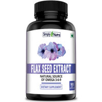 Simply Nutra Flax Seed 90 Capsules
