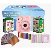 Fujifilm Instax Mini 9 Camera Bundle Pack Clear Pink
