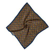 HILO Design Giza Brocade Pattern Silk Pocket Square