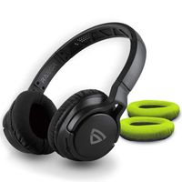 RAEGR Airbeats 500 Wireless Headphones Bluetooth 5.0/3.5mm Aux-in Connectivity Headphone-black/green