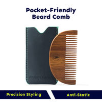 Beardinator Pocket Wooden Beard Comb For Men