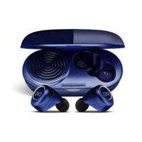 Crossloop GEN TWS Bluetooth Earbuds with 3W Speaker Case (Blue Leather)