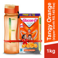 Glucon D Instant Energy Health Drink Tangy Orange - Refill (Sipper Worth 145 Rupees Free)
