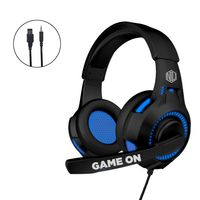 Nu Republic Dread EVO Gaming Earphone with Blue LED Light , Flexible Extended Microphone - Blue