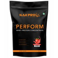 NAKPRO Perform Whey Protein Concentrate Supplement Powder - Strawberry Flavour