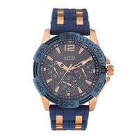 Guess W0366G4 Round Black Dial Analog Watch