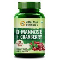 Himalayan Organics D-mannose + Cranberry Antioxidant Rich Supplement