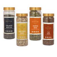 Khari Foods Organic Seeds Weight Management Combo, Pack 4 - Sunflower, Chia, Flax, Pumpkin Seeds