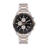 Titan Octane Black Dial Stainless Steel Strap Watch