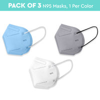 Nykaa Fashion Essentials- Certified N95 Mask with 5 Layer Protection Pack of 3-NYA023 - Multi-Color