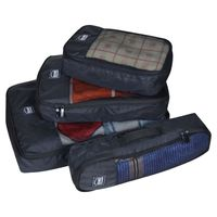 EUME Polyester Travel Pouch & Travel Organizer Pack of 4 (Black)