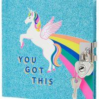 Accessorize Retro Unicorn Lockable Journal