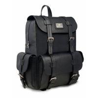 Smith & Blake Leatherette Backpack Black | Toretto