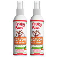 Frisky Paws Scavon Topical Injury Healer For Dogs & Cats - Veterinary Herbal Spray - 2 Pcs