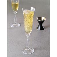 Bohemia Crystal Angela Champagne Flutes Glass Set,190ml,set Of 6,tranparent,non Lead Crystal