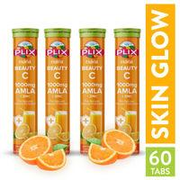 Plix Olena Beauty C Amla 1000mg Vitamin C & Zinc Effervescent Tablets - Pack of 4