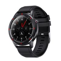 AQFIT W15 Fitness Smartwatch  Full Touch Screen Display (Black)