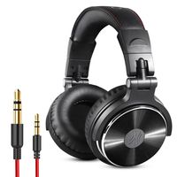 OneOdio Pro 10 Black Over Ear Wired With Mic Headphones/Earphones