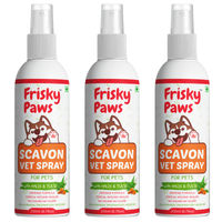 Frisky Paws Scavon Topical Injury Healer For Dogs & Cats - Veterinary Herbal Spray - 3 Pcs