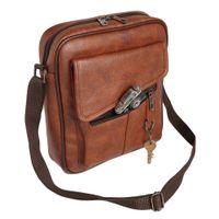 FUR JADEN Leatherette Crossbody Sling Bag (Tan)