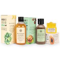 Bella Vita Organic Face Spots & Marks Reduction Combo (c Glow + Exfoliate + Papyblem)