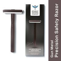 Bombay Shaving Company Precision Safety Razor + 5 Platinum Coated Feather Blades Combo (Gun Metal)