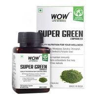 WOW Life Science Super Green Capsules - 60 Vegetarian Capsules