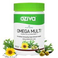 OZiva Plant based Omega Multi with Vegan Omega 3 fatty acid & multivitamins for better immunity