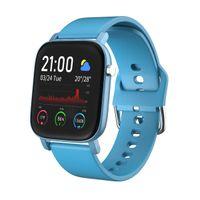 AQFIT W11 Smartwatch Waterproof Fitness Tracker  Full Touch Screen Display  Bluetooth (Power Blue)